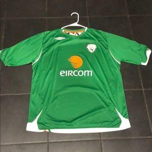 Ireland Eircom Green Soccer Jersey 2xl Umbro
